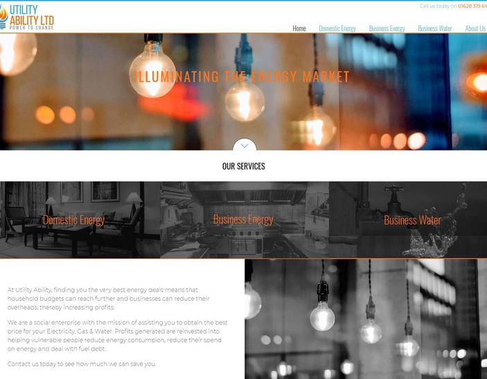 Leicester website design for Nick the Fish