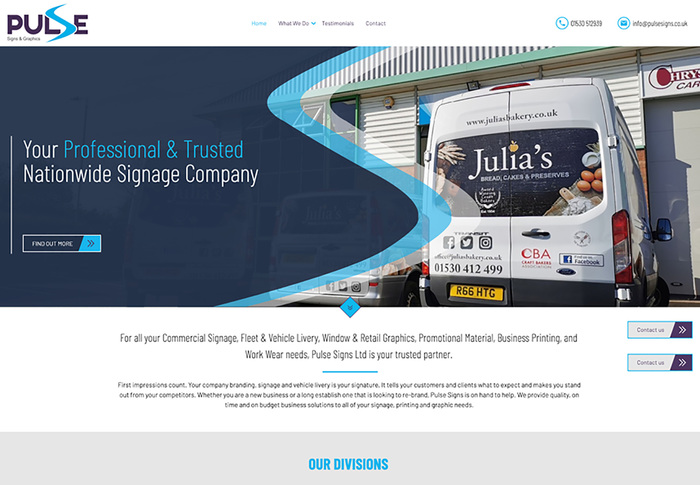Pulse Signs & Graphics website