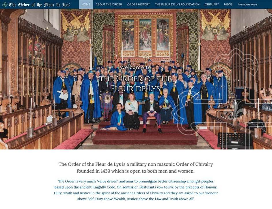 The Order of the Fleur-de-Lys website Leicestershire