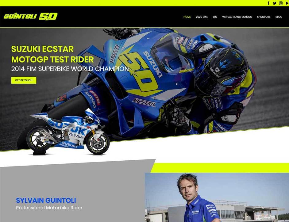 The Sylvain Guintoli website created by it'seeze Leicester