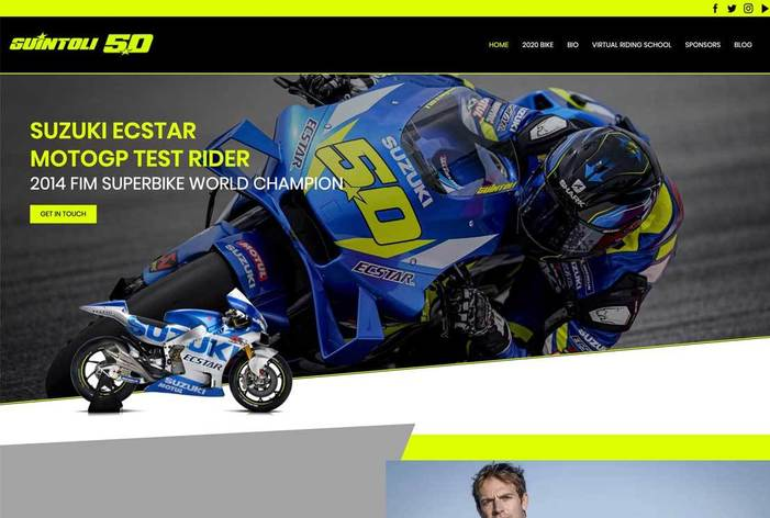 Sylvain Guintoli website design