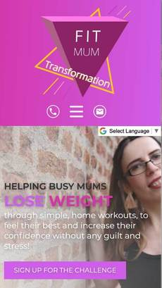 Fit Mum Transformation website