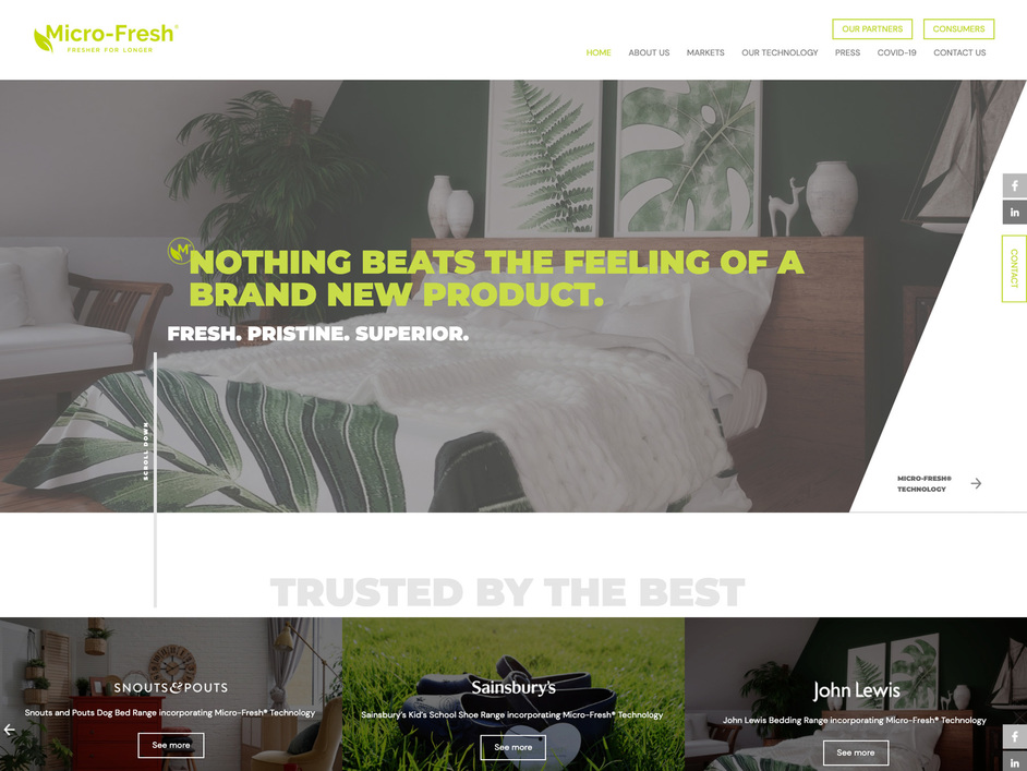 The Microfresh website created by it'seeze Leicester